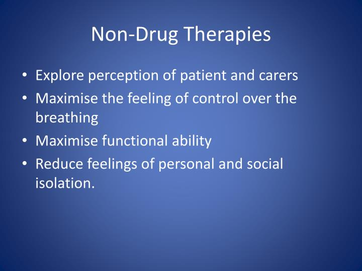 Non-Drug Therapies