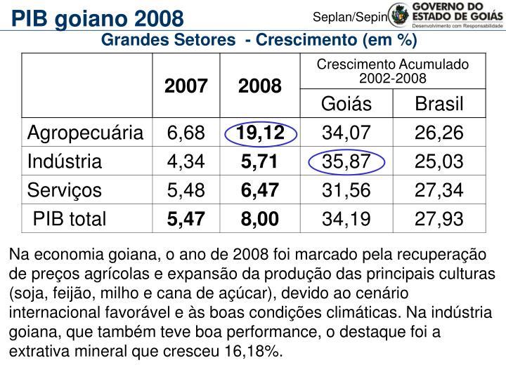 PIB goiano 2008