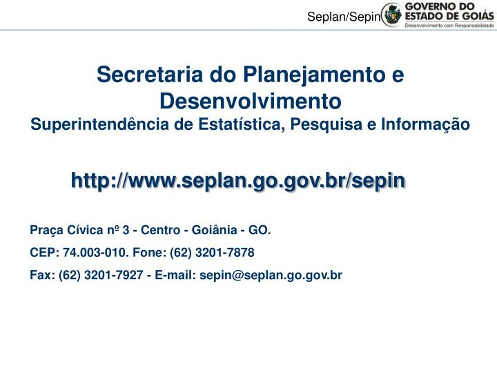 Secretaria do Planejamento e Desenvolvimento