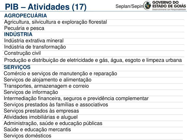 PIB – Atividades (17)