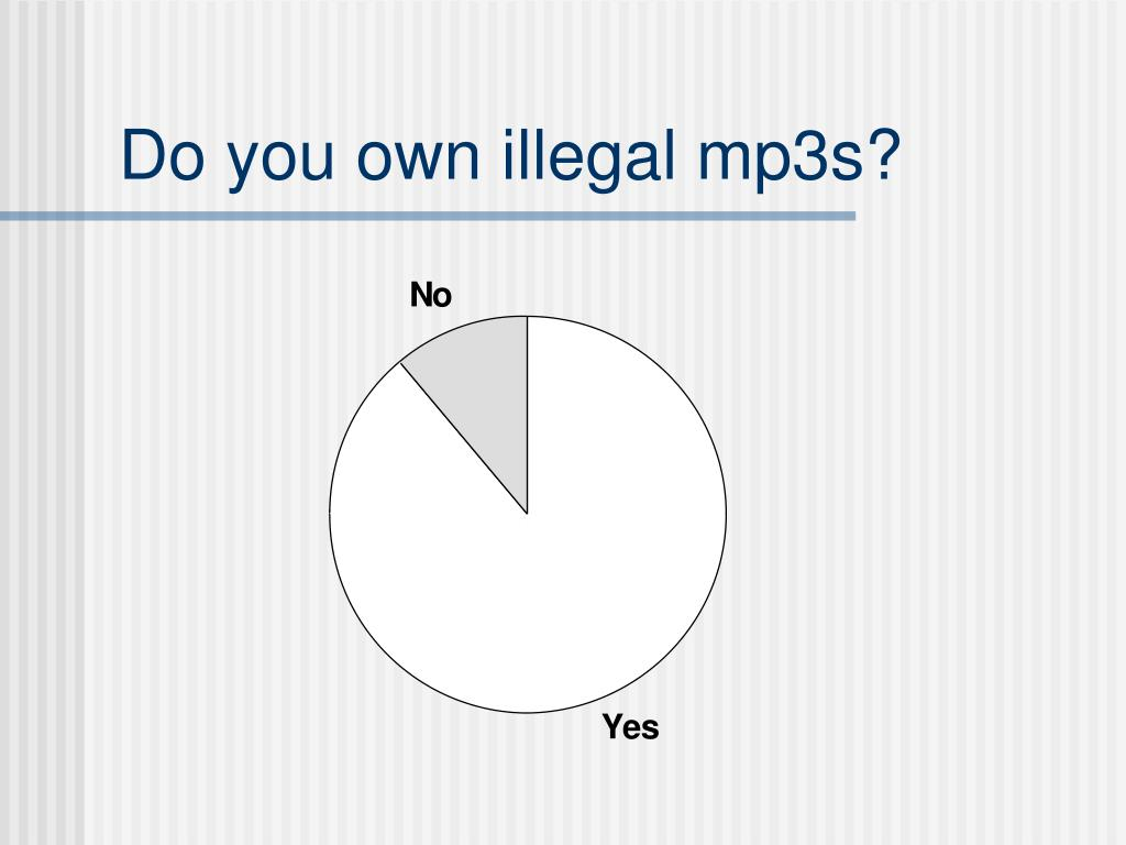 Do you own illegal mp3s?