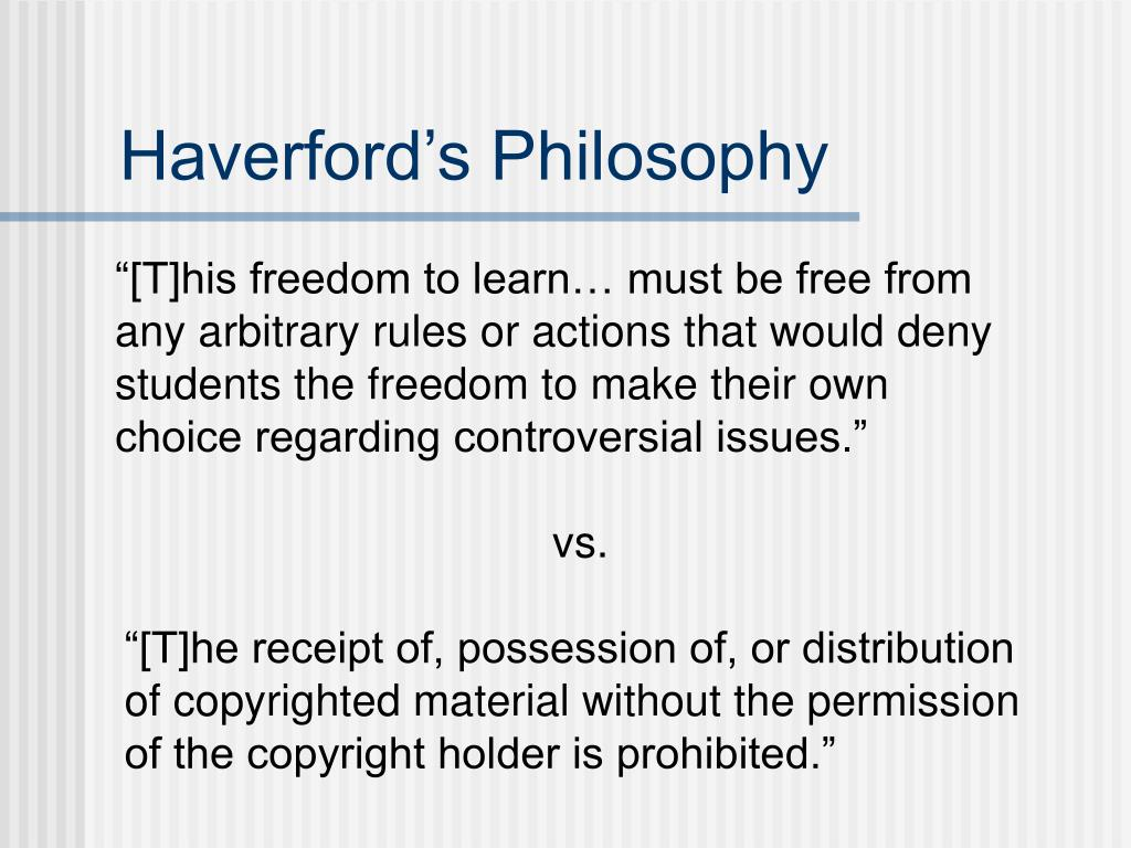 Haverford's Philosophy