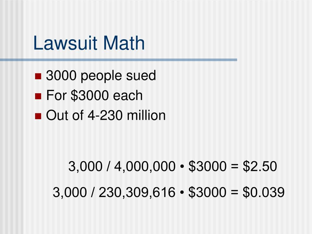 Lawsuit Math