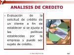 analisis de credito