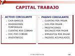 capital trabajo
