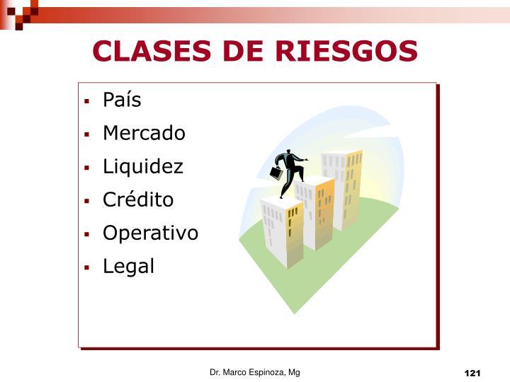 CLASES DE RIESGOS