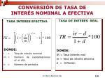 conversi n de tasa de inter s nominal a efectiva
