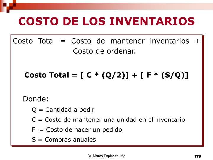 COSTO DE LOS INVENTARIOS