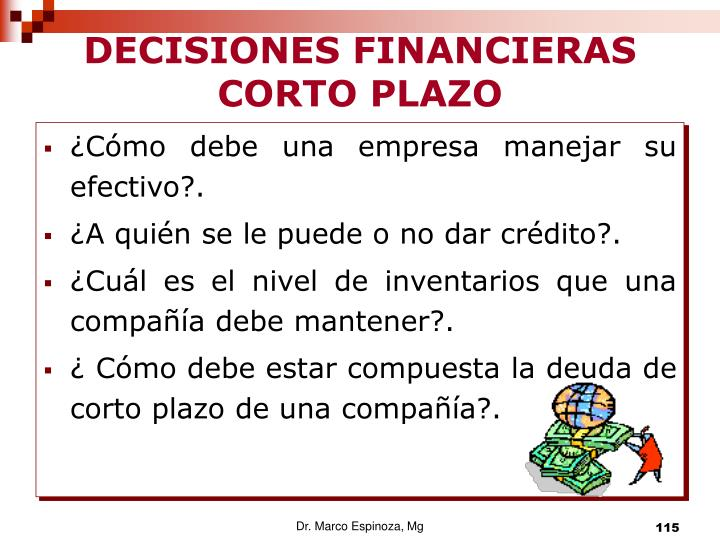 DECISIONES FINANCIERAS  CORTO PLAZO