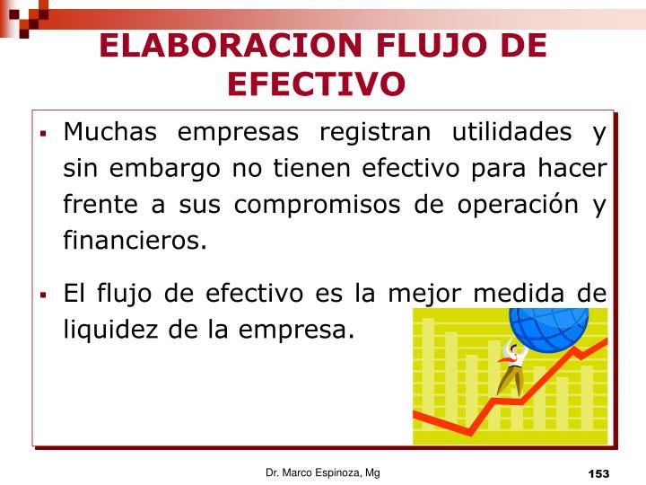 ELABORACION FLUJO DE EFECTIVO