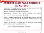 estrategias para reducir el activo
