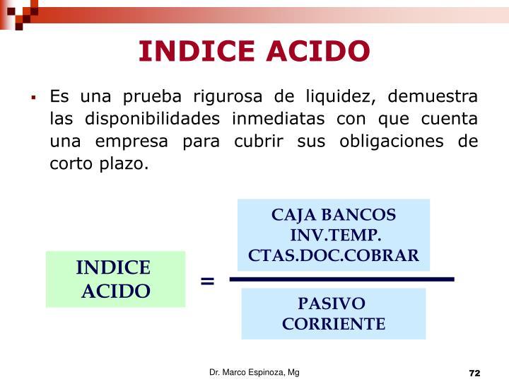 INDICE ACIDO