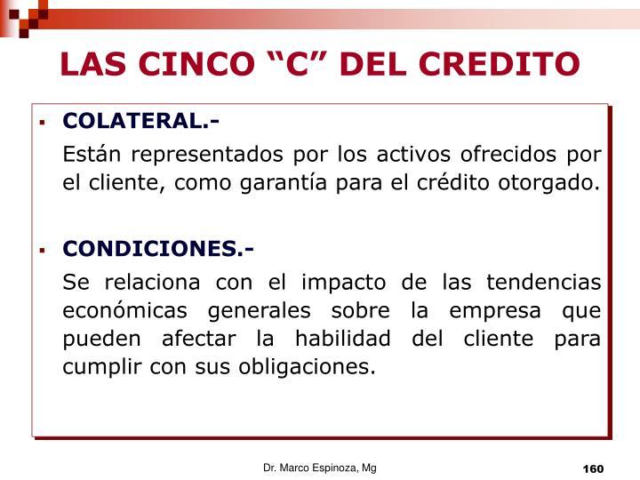 """LAS CINCO """"C"""" DEL CREDITO"""