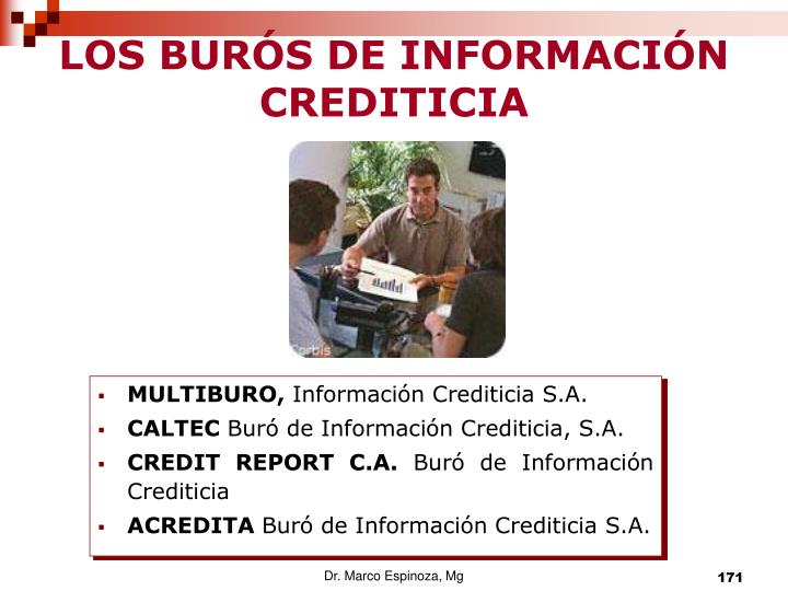 LOS BURÓS DE INFORMACIÓN CREDITICIA