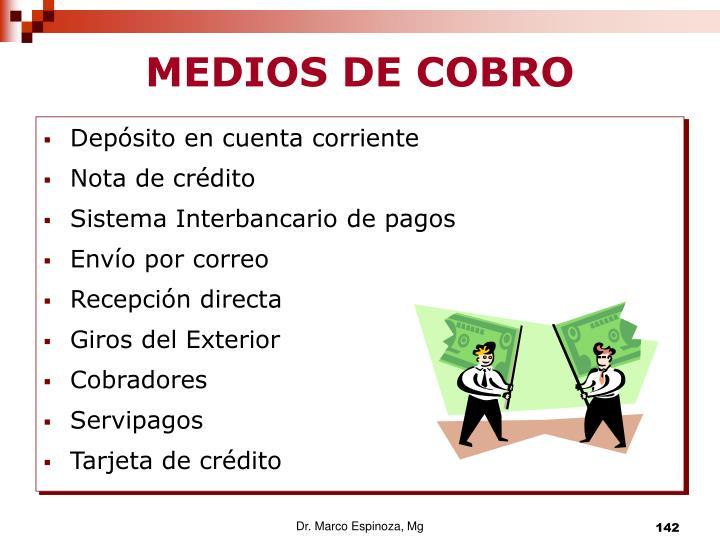MEDIOS DE COBRO