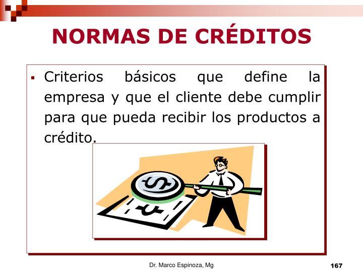 NORMAS DE CRÉDITOS