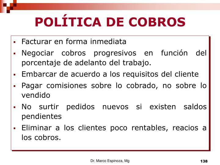 POLÍTICA DE COBROS