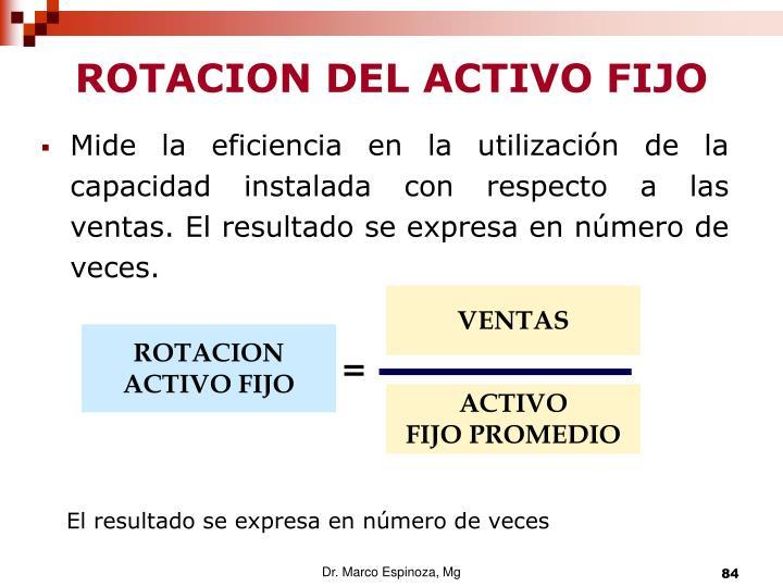 ROTACION DEL ACTIVO FIJO