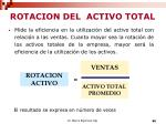 rotacion del activo total