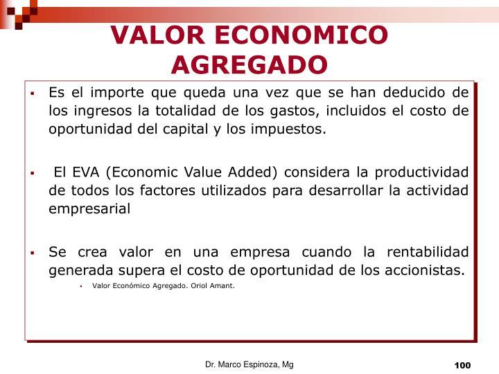 VALOR ECONOMICO AGREGADO