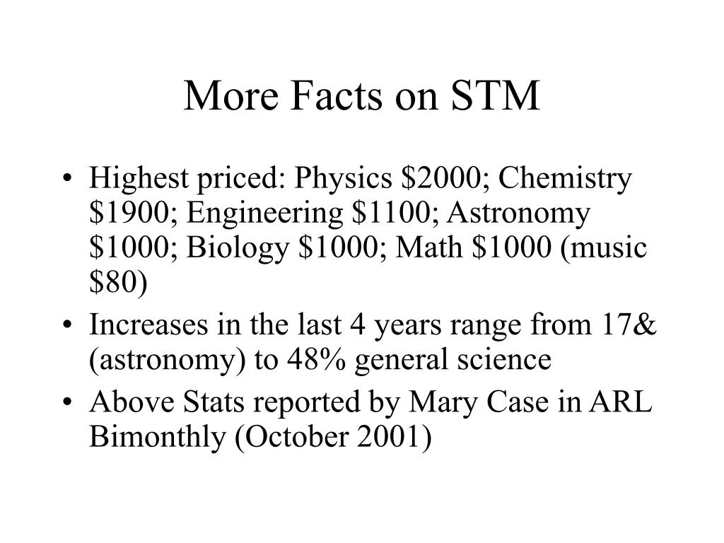 More Facts on STM