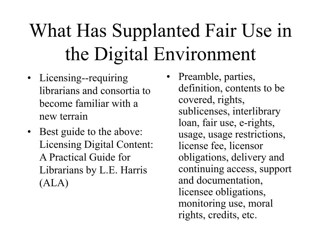 Licensing--requiring librarians and consortia to become familiar with a new terrain