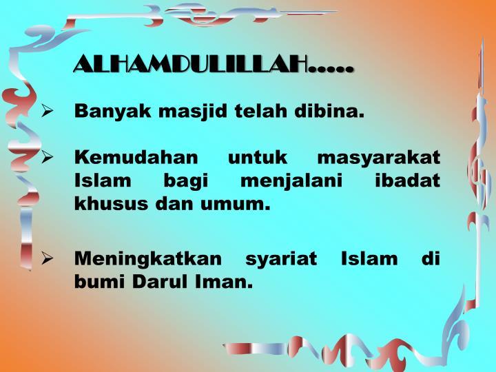 ALHAMDULILLAH…..