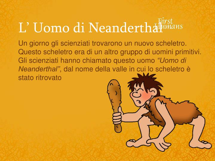 L' Uomo di Neanderthal
