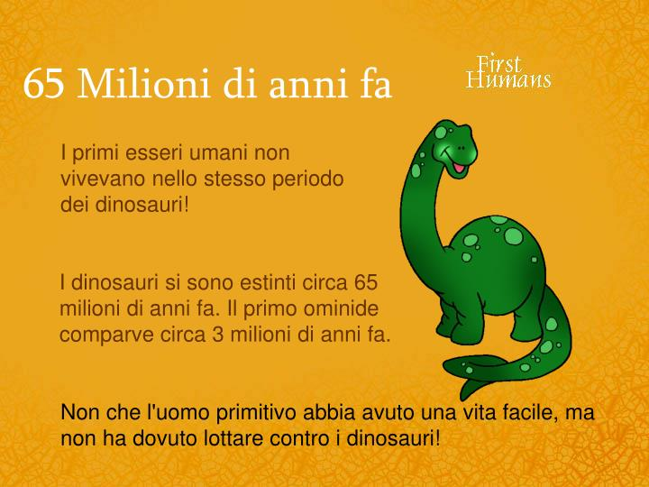 65 Milioni di anni fa