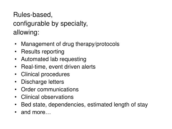 Management of drug therapy/protocols