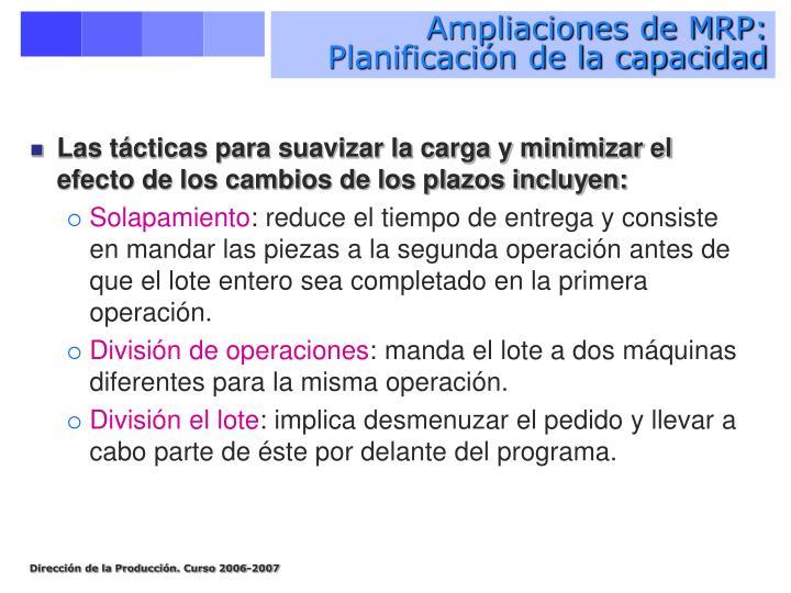 Ampliaciones de MRP: