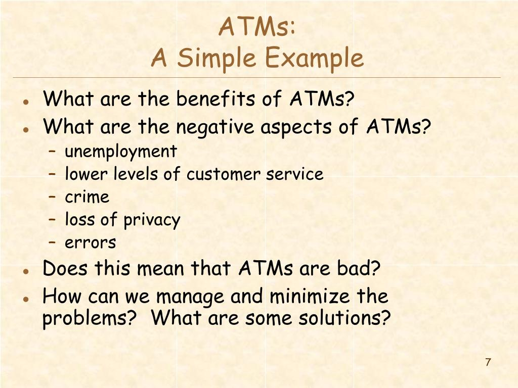 ATMs:
