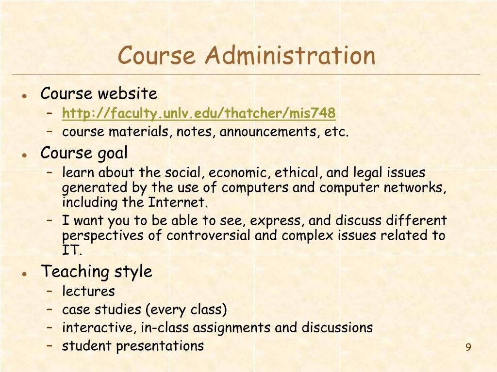 Course Administration