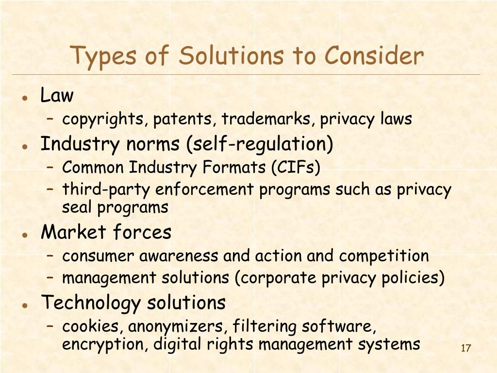 Types of Solutions to Consider