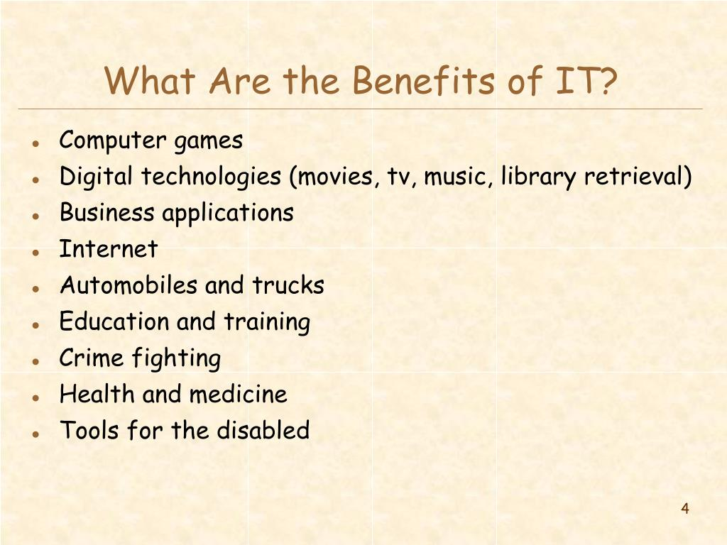 What Are the Benefits of IT?