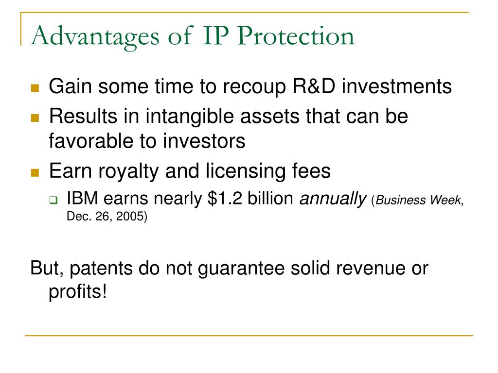 Advantages of IP Protection