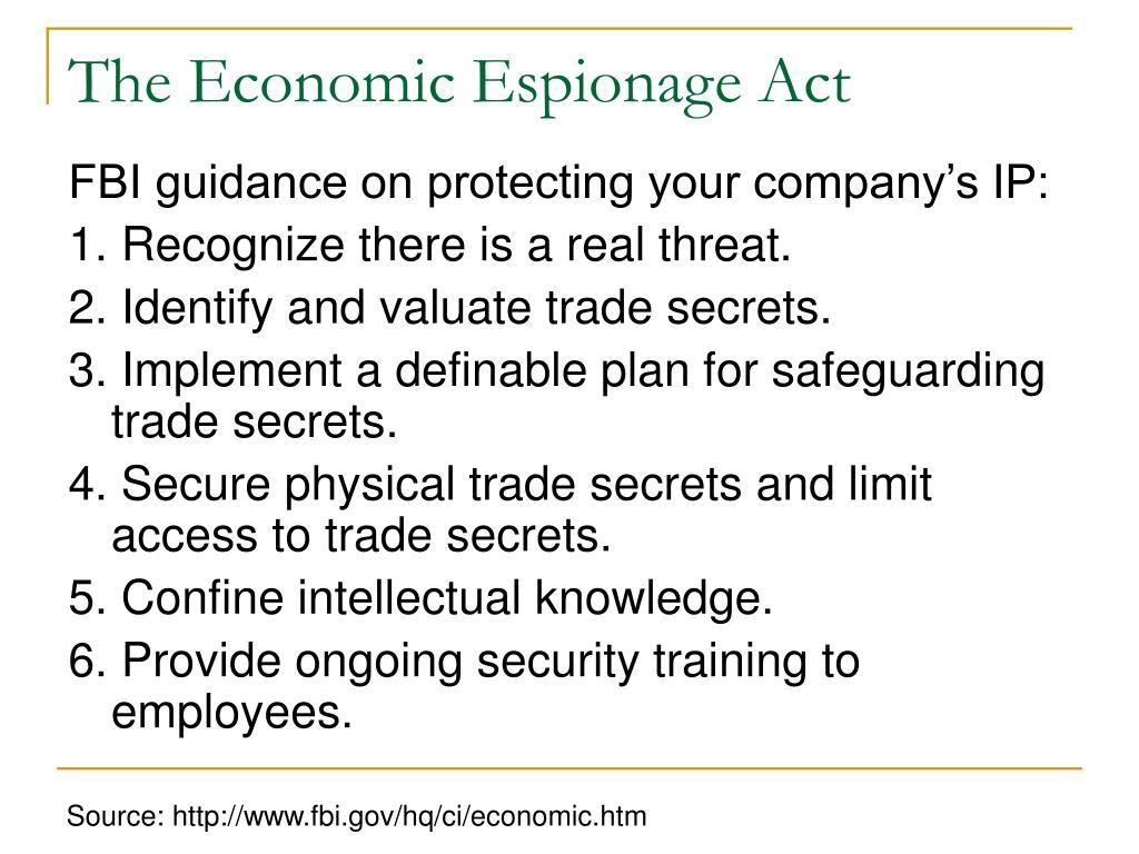 The Economic Espionage Act