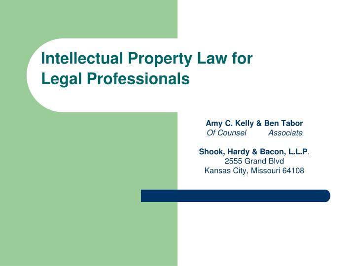 Intellectual property law for legal professionals l.jpg