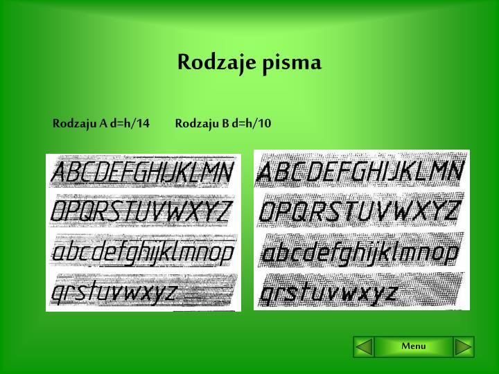 Rodzaje pisma