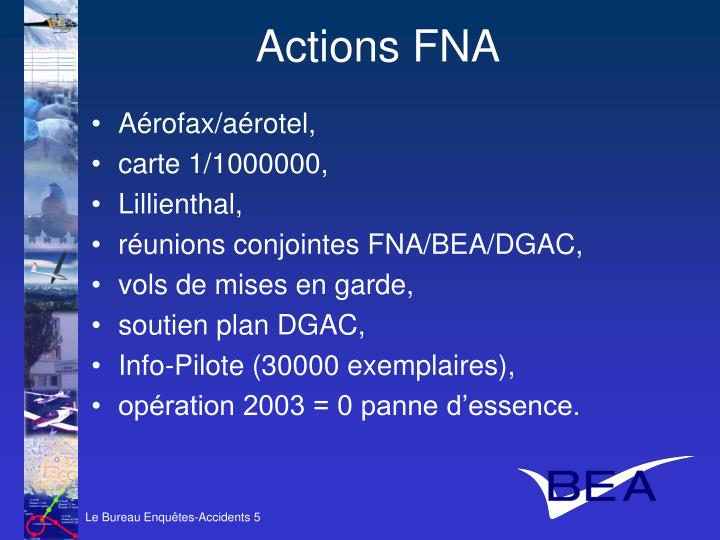 Actions FNA