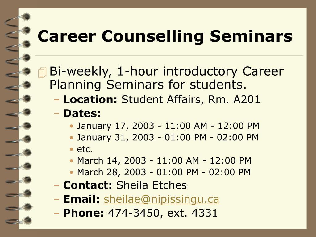 Career Counselling Seminars