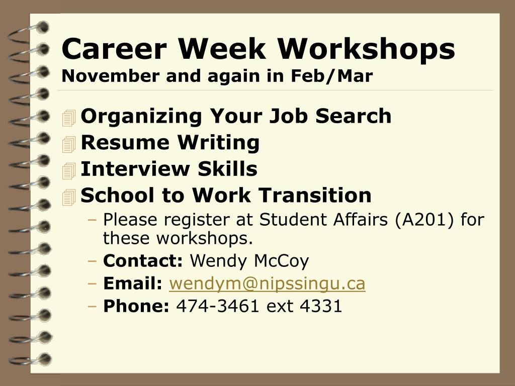 Career Week Workshops