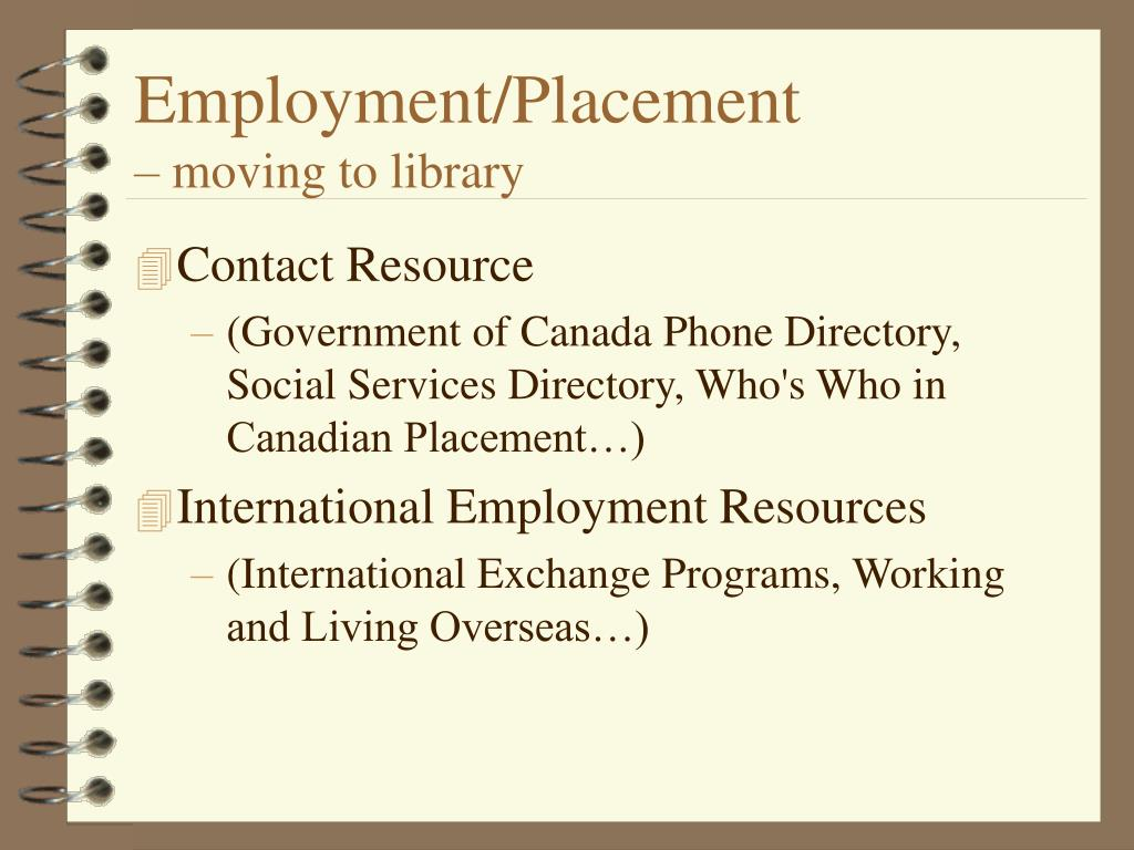 Employment/Placement