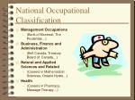 national occupational classification19