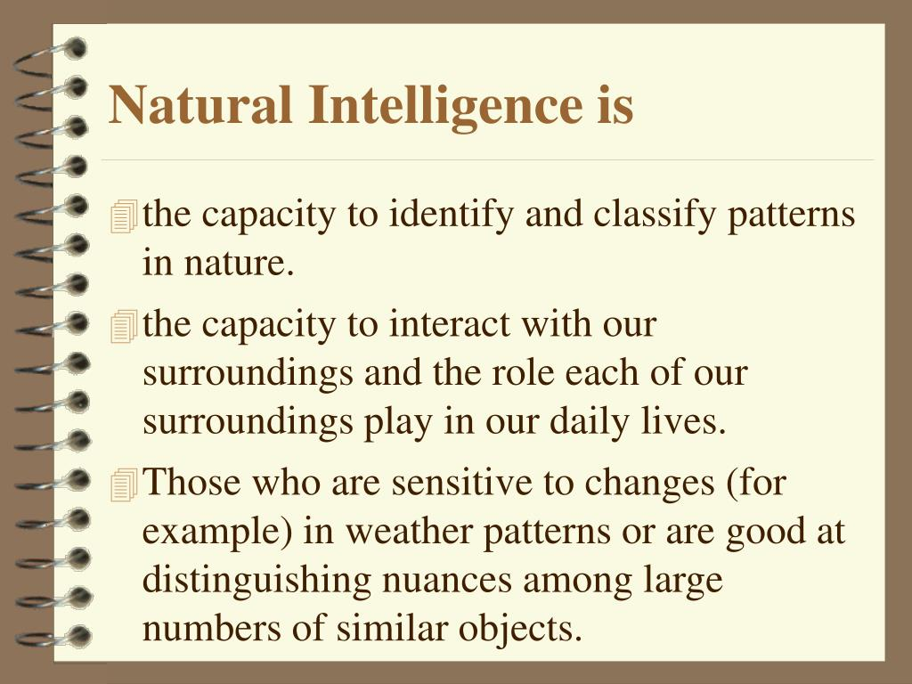 Natural Intelligence is