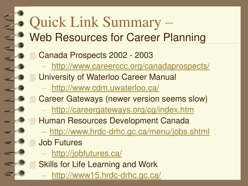 Quick Link Summary –