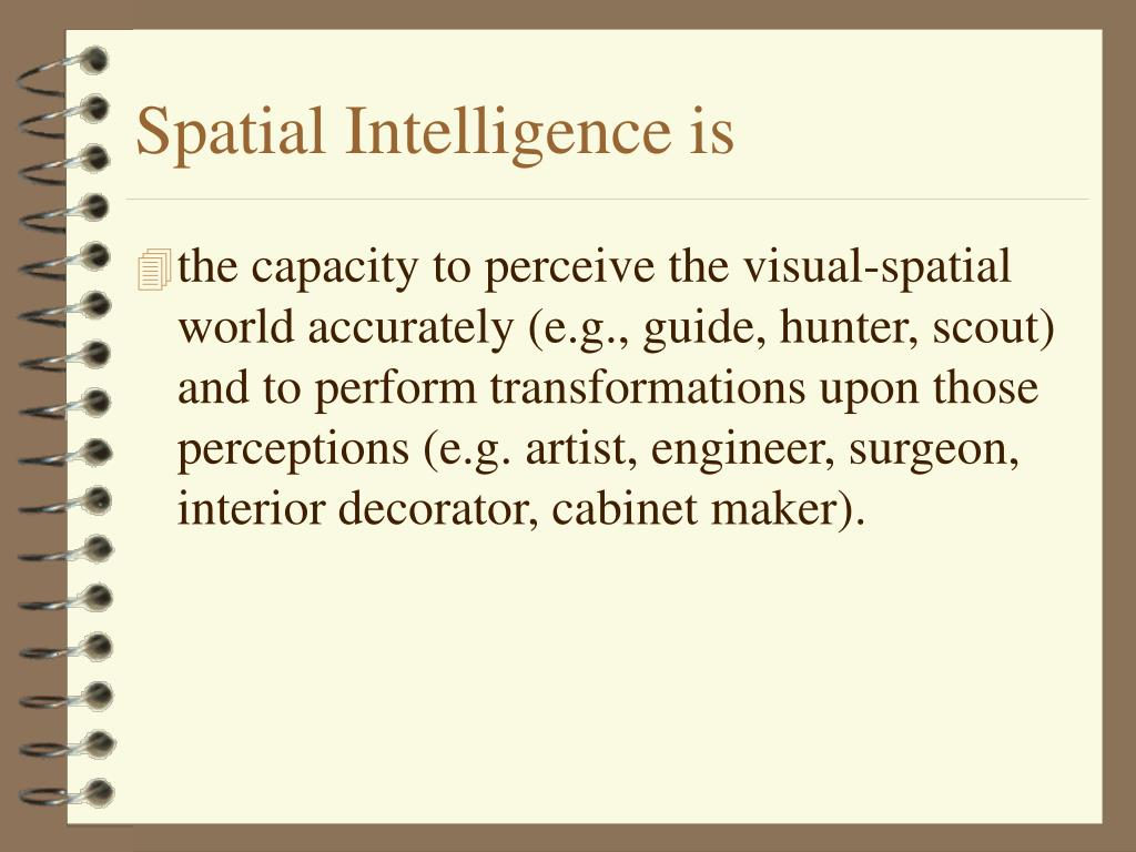 Spatial Intelligence is