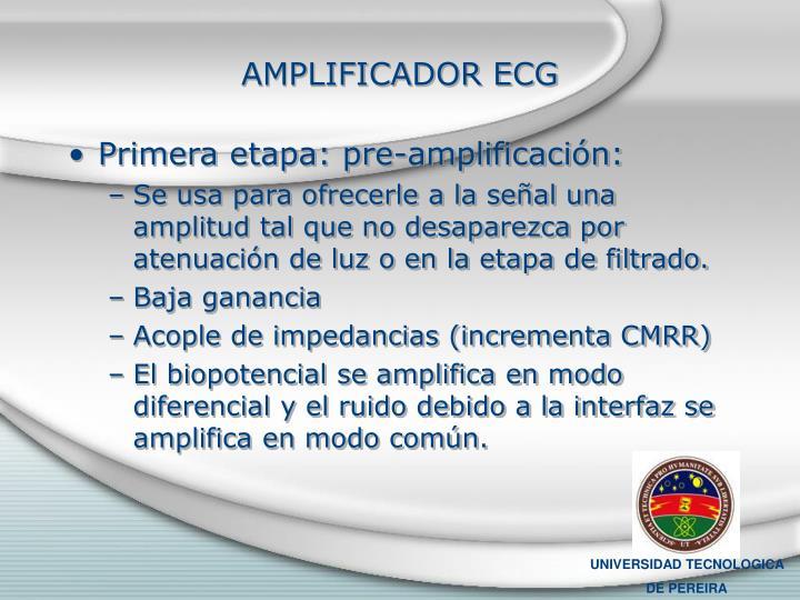 AMPLIFICADOR ECG