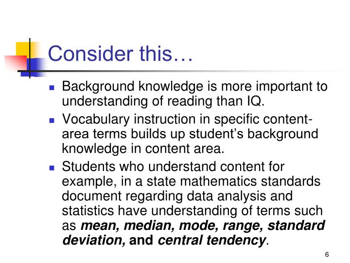 an analysis of the vocabulary instruction This document is provided by national geographic learning / cengage vocabulary instruction analysis the odds of.