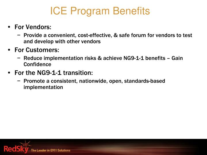 ICE Program Benefits